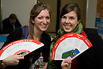 Genevieve Gilbert (l) and Maia Green, Canadian Youth Delegation. UNFCCC COP 14 (©Robert vanWaarden ALL RIGHTS RESERVED)
