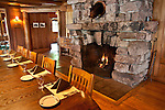 The Adirondack League Club dining room had this massive fireplace with trophy bear watching us while we ate.