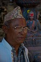 Local Nepalese at the Khokana Village Kathmandu Valley, Nepal