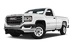 Stock pictures of low aggressive front three quarter view of 2017 GMC Sierra-1500 Regular-Cab 2 Door Pickup Low Aggressive