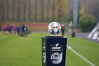 Match ball picture pictured before a female soccer game between FC Femina WS Woluwe and RSC Anderlecht Women on the eight match day of the 2020 - 2021 season of Belgian Women's Super League , Sunday 22nd of November 2020  in Woluwe, Belgium . PHOTO SPORTPIX.BE | SPP | SEVIL OKTEM