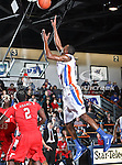 Texas-Arlington Mavericks guard/forward LaMarcus Reed III (31) goes up for a rebound in the game between the Lamar University Cardinals and the University of Texas-Arlington Mavericks held at the University of Texas in Arlington's Texas Hall in Arlington, Texas. Lamar defeats UTA 76 to 72