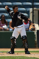 July 16 2008: Alberto Rosario of the Rancho Cucamonga Quakes during game against the High Desert Mavericks at The Epicenter in Rancho Cucamonga,CA.  Photo by Larry Goren/Four Seam Images