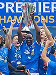 15.05.2021 Rangers v Aberdeen: Joe Aribo with the SPFL Premiership league trophy