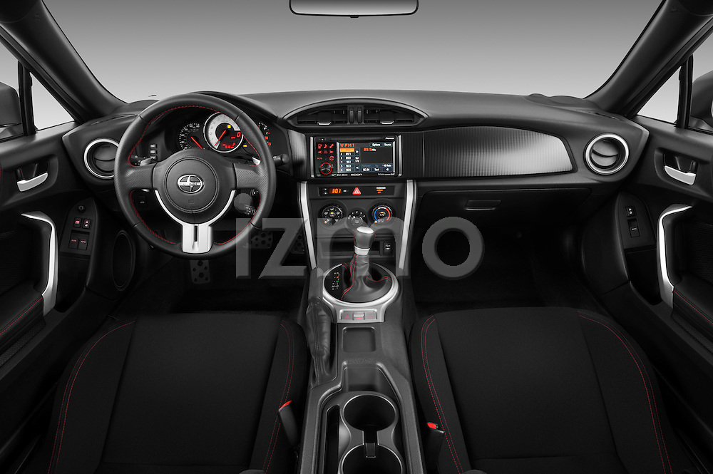 Straight dashboard view of a 2013 Scion FRS
