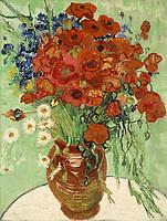 Gogh, Vincent, van (1853-1890), Stillleben, Vase mit Margeriten und Mohnblumen, ֬ auf Leinwand, 66x51, Holland, 1890, Postimpressionismus, Privatsammlung. | Gogh, Vincent, van (1853-1890), Still Life, Vase with Daisies and Poppies, Oil on canvas, 66x51, Holland, 1890, Postimpressionism, Private Collection.   Credit: culture-images/fai  Persoenlichkeitsrechte werden nicht vertreten.  Verwendung / usage: weltweit / worldwide