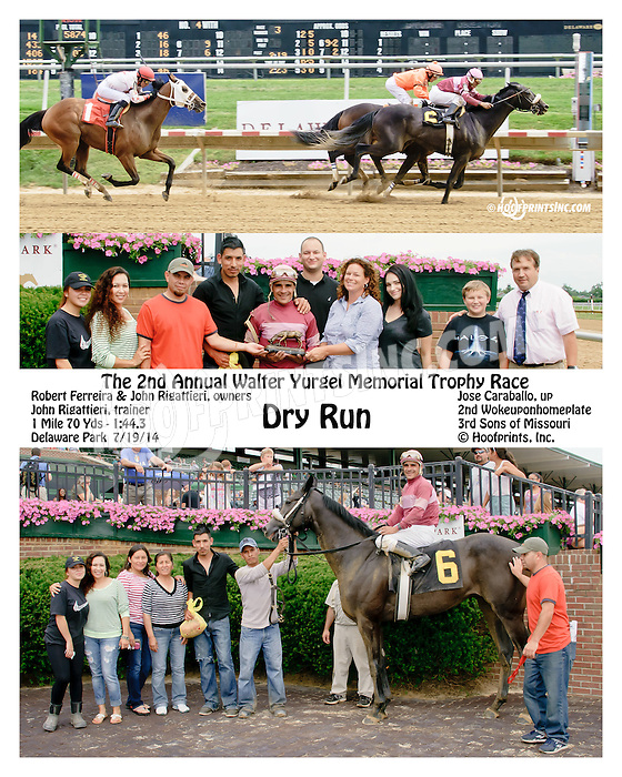 Dry Run winning at Delaware Park on 7/19/14