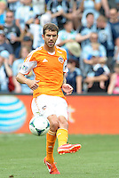 Eric Brunner (2) defender Houston Dynamo in action..Sporting Kansas City and Houston Dynamo played to a 1-1 tie at Sporting Park, Kansas City, Kansas.
