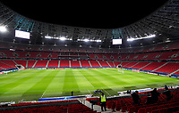 16th February 2021, Puskas Arena, Budapest, Hungary;  Champions League football, FC Leipig versus Liverpool FC as the stadium stands empty
