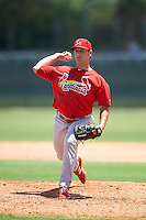 GCL Cardinals relief pitcher Will Anderson (35) during the second game of a doubleheader against the GCL Marlins on August 13, 2016 at Roger Dean Complex in Jupiter, Florida.  GCL Cardinals defeated GCL Marlins 2-0.  (Mike Janes/Four Seam Images)