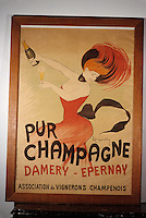 Europe/France/Champagne-Ardenne/51/Marne/Epernay : Musée municipal - Affiche champagne Damery 1900