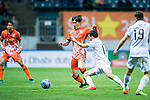 Jeju United Midfielder Lee Changmin (L) in action against Adelaide United Forward Sergio Cirio (R) during the AFC Champions League 2017 Group Stage - Group H match between Jeju United FC (KOR) vs Adelaide United (AUS) at the Jeju World Cup Stadium on 11 April 2017 in Jeju, South Korea. Photo by Marcio Rodrigo Machado / Power Sport Images