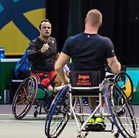 Rotterdam, The Netherlands, 6 march  2021, ABNAMRO World Tennis Tournament, Ahoy,  <br /> Semi final wheelchair: Tom Egberink (NED) Maikel Scheffers (NED).<br /> Photo: www.tennisimages.com/henkkoster