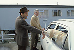"""""""Thorpe works for us."""" Jeremy Thorpe on the election campaign trail mid Devon constituency 1979.. Barnstable.."""