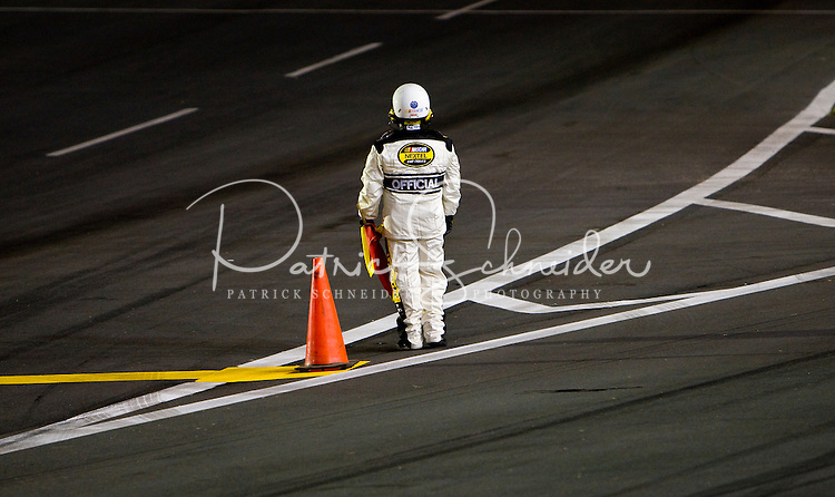 A NASCAR official during the Bank of America 500 NASCAR race at Lowes's Motor Speedway in Concord, NC.