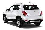 Car pictures of rear three quarter view of a 2020 Chevrolet Trax LT 5 Door SUV angular rear