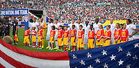 Jacksonville, Florida - Saturday, June 7, 2014: The USMNT during their match vs Nigeria at EverBank Field.
