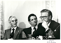 Jacques Gagnon, president de la Federation des Caisses d'Entraide du Quebec a la tribune de la Chambre de Commerce de Montreal ,  20 nov 1979<br /> <br /> PHOTO :   Agence Quebec Presse
