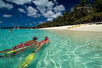 Snorkelers at Honeymoon Beach<br /> Virgin Islands National Park<br /> St. John, U.S. Virgin Islands