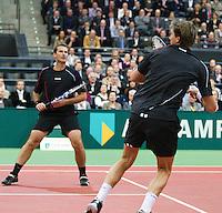 2011-02-07, Tennis, Rotterdam, ABNAMROWTT,  Paul Haarhuis, Jacco Eltingh (R)