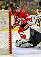 19 January 2008: Northeastern University Huskies' forward Chad Costello, a Sophomore from Johnston, IA, in action against the University of Vermont Catamounts at Gutterson Fieldhouse in Burlington, Vermont. The Catamounts defeated the Huskies 5-2 to close out their 2-game weekend series...Mandatory Photo Credit: Ed Wolfstein Photo