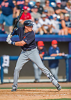 5 March 2016: Detroit Tigers infielder Dominic Ficociello in action during a Spring Training pre-season game against the Washington Nationals at Space Coast Stadium in Viera, Florida. The Tigers fell to the Nationals 8-4 in Grapefruit League play. Mandatory Credit: Ed Wolfstein Photo *** RAW (NEF) Image File Available ***