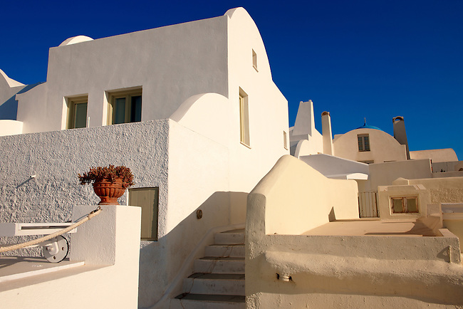 Typical Santorini house of Imerovigli, Santorini, Greece.
