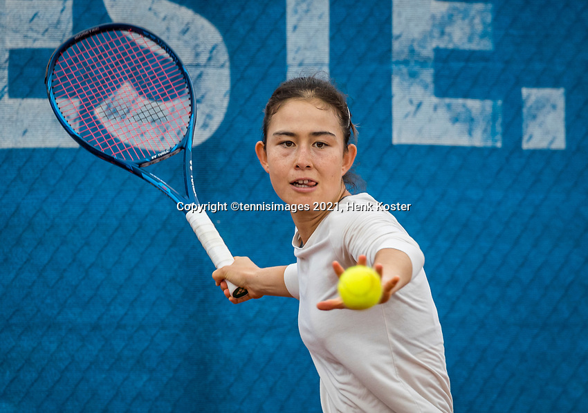 Amstelveen, Netherlands, 5  Juli, 2021, National Tennis Center, NTC, Amstelveen Womans Open, Joanna Garland, <br /> (TPE)<br /> Photo: Henk Koster/tennisimages.com