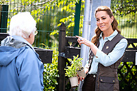 18 June 2020 - Norfolk - Kate Duchess of Cambridge Catherine Katherine Middleton talks with a member of the public as she shops for plants and herbs at Fakenham Garden Centre in Norfolk. The Duchess took the herbs and plants to The Nook in Framlingham Earl, Norfolk, which is one of the three East Anglia Children's Hospices (EACH) of which she is Royal Patron. Photo Credit: ALPR/AdMedia