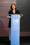 Vice President Soraya Saenz de Santamaria during the 80th Aniversary of the National Basketball Team at Melia Castilla Hotel, Spain, September 01, 2015. <br /> (ALTERPHOTOS/BorjaB.Hojas)