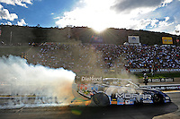 Jul. 23, 2011; Morrison, CO, USA: NHRA funny car driver Matt Hagan during qualifying for the Mile High Nationals at Bandimere Speedway. Mandatory Credit: Mark J. Rebilas-