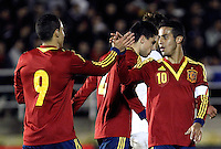 Spain's players celebrate goal during an International sub21 match. March 21, 2013.(ALTERPHOTOS/Alconada) /NortePhoto