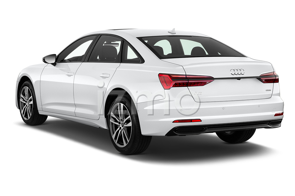 Rear three quarter view of a 2021 Audi A6 Sedan Premium Plus 4 Door Sedan