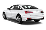 Car pictures of rear three quarter view of 2021 Audi A6-Sedan Premium-Plus 4 Door Sedan Angular Rear