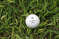 CHINA. A golf lies in the grass of the driving range at Huatang International Golf Club in Beijing. 2009