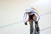 Southlands Natasha Hansen at the BikeNZ Elite & U19 Track National Championships, Avantidrome, Home of Cycling, Cambridge, New Zealand, Sunday, March 16, 2014. Credit: Dianne Manson