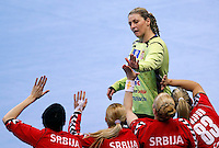 SERBIA, Belgrade: Serbia's Katarina Tomasevic during handball Women's World Championship semi-final match between Poland and Serbia in Belgrade, Serbia on Friday, December 20, 2013. (credit image & photo: Pedja Milosavljevic / STARSPORT / +318 64 1260 959 / thepedja@gmail.com)