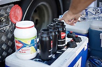 prepping the water bottles<br /> <br /> 55th Vlaamse Druivenkoers 2015