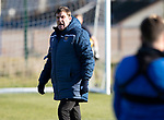 St Johnstone Training…29.10.19<br />Manager Tommy Wright pictured during training this morning at McDiarmid Park ahead of tomorrow's game against Hearts.<br />Picture by Graeme Hart.<br />Copyright Perthshire Picture Agency<br />Tel: 01738 623350  Mobile: 07990 594431