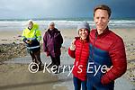 Kieran Laffan, Chiara Biscioddlo, Breda and Sean Galvin from Tralee enjoying a stroll on Banna Beach on Tuesday.
