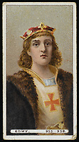 KING EADWIG (EDWY)  King of England (955-958) / Unattributed design on a cigarette card / -959
