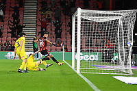 Junior Stanislas of AFC Bournemouth hits the back of the net for the first goal during AFC Bournemouth vs Wycombe Wanderers, Sky Bet EFL Championship Football at the Vitality Stadium on 15th December 2020