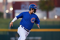 AZL Cubs 1 Carlos Pacheco (29) rounds third base during an Arizona League game against the AZL Athletics Gold at Sloan Park on June 20, 2019 in Mesa, Arizona. AZL Athletics Gold defeated AZL Cubs 1 21-3. (Zachary Lucy/Four Seam Images)