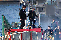 2016 07 13 Benedict Cumberbatch films Sherlock in Cardiff, Wales, UK