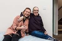 FAO: Society <br /> Pictured L-R: Alys Phillips with resident Tim Younger<br /> Re: Care worker Alys Phillips, 23, who looks after people with learning disabilities in Brecon, mid Wales, UK. Wednesday 01 February 2017