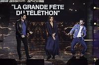 Patrick Fiori, Zazie, Claudio Capeo<br />Telethon  2017<br />©  TRIBHOU / DALLE