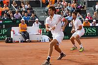 15-09-12, Netherlands, Amsterdam, Tennis, Daviscup Netherlands-Suisse, Doubles, Robin Haase/Jean-Julian Rojer  (R)