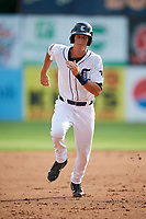 Connecticut Tigers right fielder Ulrich Bojarski (26) runs the bases during a game against the Lowell Spinners on August 26, 2018 at Dodd Stadium in Norwich, Connecticut.  Connecticut defeated Lowell 11-3.  (Mike Janes/Four Seam Images)