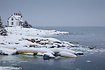 Prospect Harbor Light in Prospect Harbor, Gouldsboro, ME, USA
