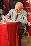 "Writer and Cervantes Award 1999, Jorge Edward deposit a legacy in ""the Box of the Words"" at Cervantes Institute in Madrid, July 08. 2015<br />  (ALTERPHOTOS/BorjaB.Hojas)"